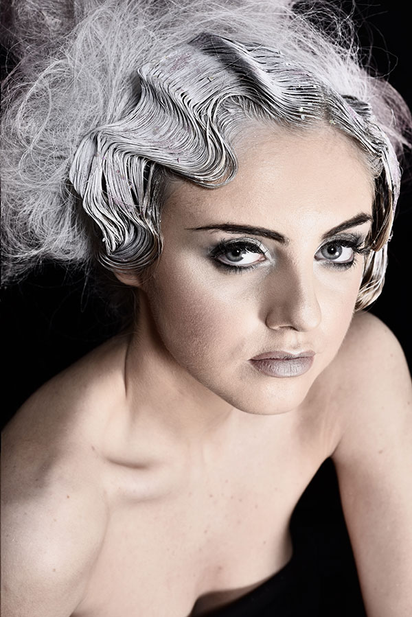 Futuristic hair and makeup, Fringe Photo Shoot