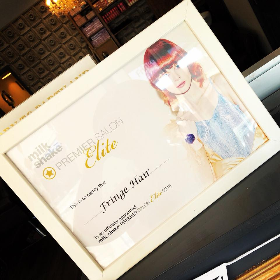 Fringe certified as Milk_Shake Premier Salon Elite Salon